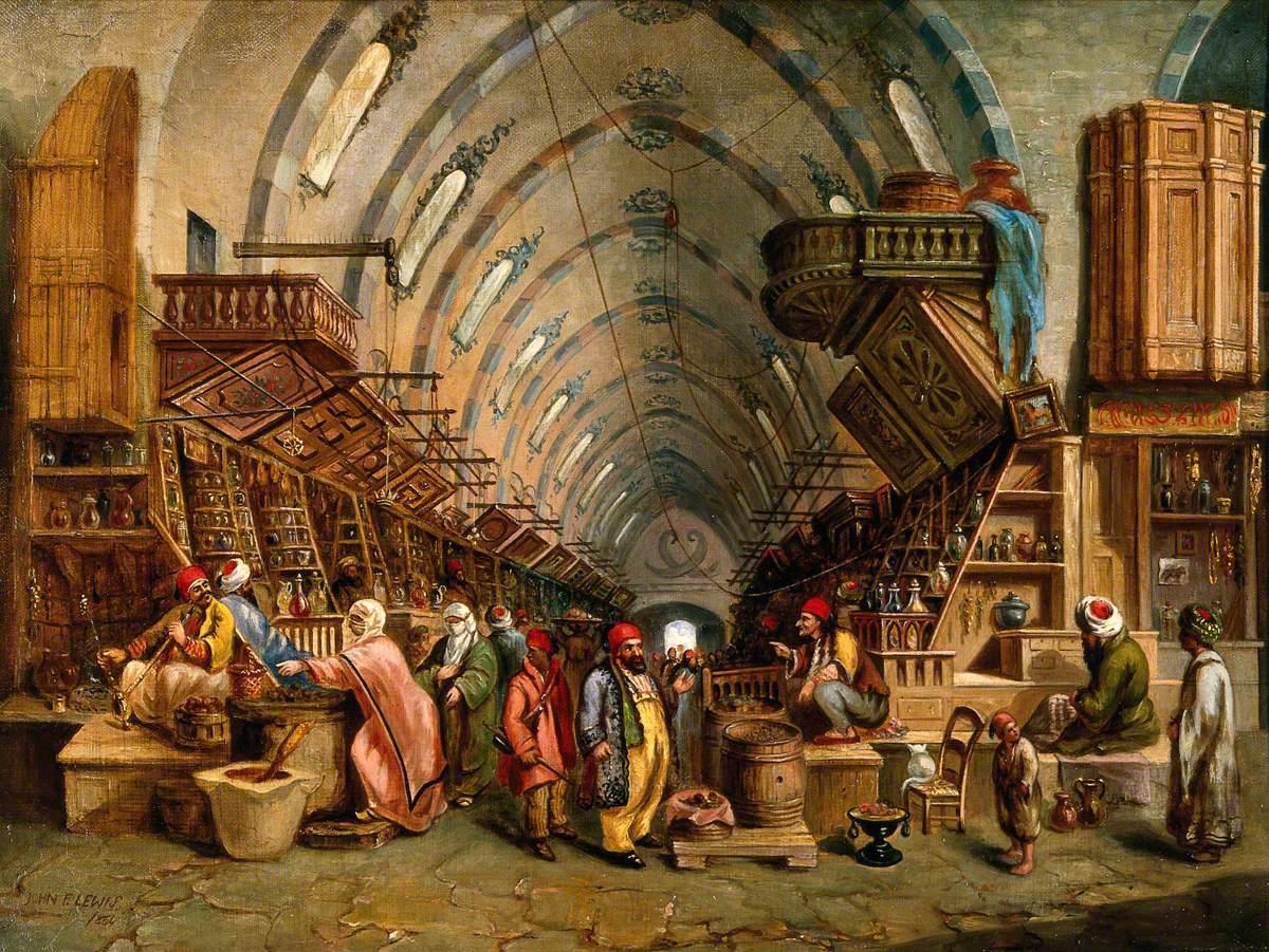 Varley II, John, 1850-1933; A Bazaar